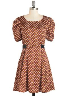 To Put it Wildly Dress. Theres no sugarcoating how adorable this patterned dress is! #gold #prom #modcloth