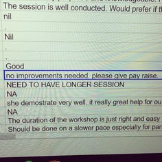 Favourite feedback of the year #constructivecriticism #librarian