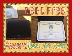Financial fitness award!! Yay!!