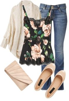 44 Chic Casual Style Outfits To Look Cool And Fashionable - Luxe Fashion New Trends - Fashion for JoJo Mode Outfits, Fall Outfits, Fashion Outfits, Womens Fashion, Fashion Trends, Floral Outfits, Fashion Fashion, Outfit Winter, Floral Top Outfit