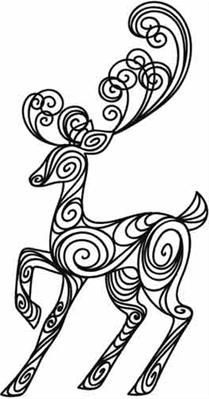 doodle deer - would be beautiful on a sharpie plate for Christmas