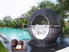 "The gorgeous Iglu ""Apple"" wicker daybed is a piece of art."