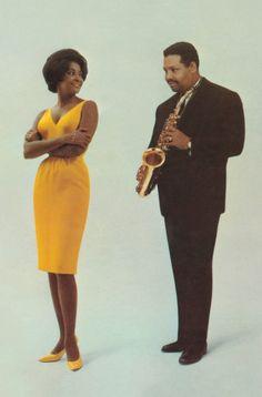 "Nancy Wilson and Julian ""Cannonball"" Adderley, 1961 Jazz Artists, Jazz Musicians, Music Artists, Soul Artists, Music Is Life, My Music, Cannonball Adderley, Nancy Wilson, Vintage Black Glamour"