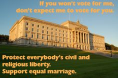 Web graphic I did for the Northern Ireland Assembly's first vote on marriage equality.