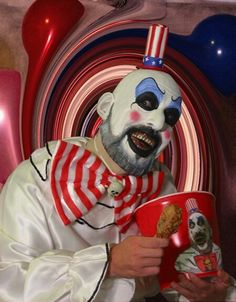 Captain Spaulding: Come on down and have some of my tasty fried chicken!