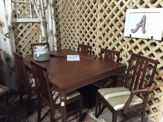 Brass Bear in Hoover, AL -- $200 gets this fantastic Dining table with leaf and 6 chairs -- @ Brass Bear 2652 Valleydale Rd. 205-566-0601