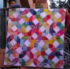 Patchwork Wheel Quilt made by the Care Circle of do.Good Stitches (January 2013)