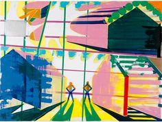 Yuichi Yokoyama - Color Engineering 24-25 2010 970 x 1300 mm Acrylic on canvas