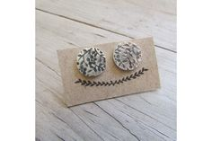 These are sterling silver studs measuring accross.They have a flower/leaf pattern on them. Pretty Eyes, Studs, Stud Earrings, Sterling Silver, Spring, Floral, Flowers, Pattern, Stuff To Buy