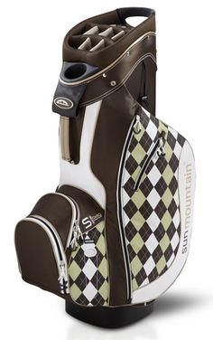 Sun Mountain Ladies S-One Golf Cart Bags - Brown/Khaki Argyle