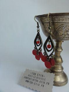 http://www.alittlemarket.com/boucles-d-oreille/boucles_d_oreille_upcyclees_legeres_en_perles_de_canette_rouge-8876395.html #bijoux #upcycling