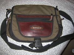 Timberland Canvas & Leather Messenger Briefcase Shoulder Bag by moodsoflife. Explore more products on http://moodsoflife.etsy.com