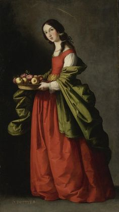 Франсиско Сурбаран. Святая Доротея (1648) (180.2 х 101.5 см) (Частное собрание).