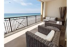 Rest, relax and enjoy the beach, beachside pool, hot tub and fully-furnished condos at Bella Riva in Fort Walton Beach, Florida. Florida Hotels, Florida Vacation, Florida Beaches, Fort Walton Beach Florida, Destin Beach, Hotels With Balconies, Queen Size Sofa Bed, Beach Chairs, Guest Bedrooms