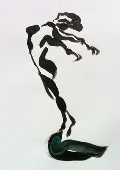 Schets in acryl Danseres strekt Randy Etty