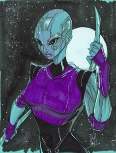 Nebula from the Guardians of the Galaxy comics | >