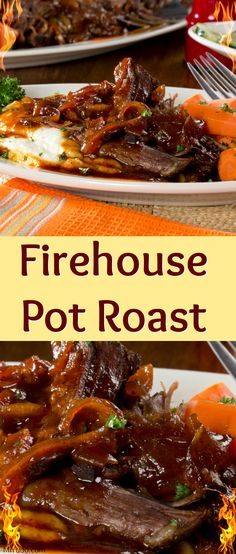 We visited a local firehouse to find out what one of their favorite dishes is and came out with a chuck roast recipe that's so good, your whole gang is going to be fired up! Our Firehouse Pot Roast is slow-cooked and topped with an unforgettably good, homemade barbecue sauce that'll leave you smiling all dinner long.