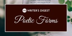 Poetic Form Fridays are made to share various poetic forms. This week, we look at the deibide baise fri toin, an Irish quatrain (or form. The post Deibide Baise Fri Toin: Poetic Forms by Robert Lee Brewer appeared first on Writer's Digest. Ekphrastic Poetry, Found Poetry, Writing Poetry, Creative Writing, Writing Tips, Writing Styles, List Poem, Poem Types, Japanese Poem