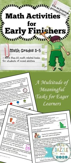 Early Finishers - Math Grade and 5 Maths Puzzles, Math Activities, Primary Resources, Teacher Resources, Elementary Math, Upper Elementary, Math Early Finishers, Brain Busters, Teacher Evaluation