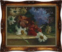 Bruno Felisberti, `Flores`, Óleo Sobre Cartão, 22 x 28, datado em 1959, assinatura no canto inferior