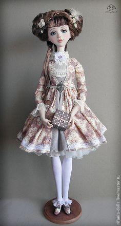 Купить Алина - бледно-розовый, подарок девушке, милое, барышня, коллекционная кукла, ручная работа