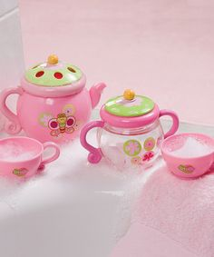 Look at this Summer Infant Pink Tub Time Tea Party Set on #zulily today!