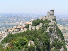 Republic of San Marino in Italy.  A country within a country!