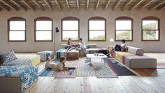 patricia urquiola crafts 'homemade' rugs and furniture for gandiablasco