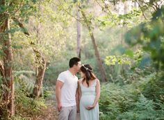 Love this pose.... Forest maternity photos in Sydney Australia by Tealily Photography | 100 Layer Cakelet
