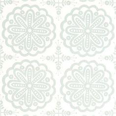 white monaluna organic fabric with ornaments flower USA