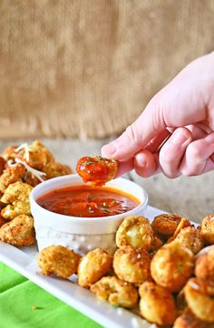 Deep fried tortellini = impossibly easy appetizers.