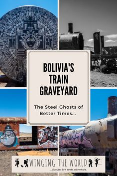 Bolivia's Train Graveyard represents the former glory of a successful mining industry. It is also a great spot for a little bit of urban exploration. Us Travel, Travel Tips, Travel Destinations, Travel Stuff, Travel Europe, Travel Guides, Fun Police, Bolivia Travel, South America Travel