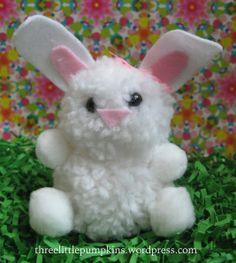DIY Easter Pom Bunny!