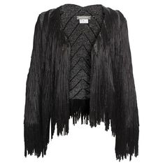 TIM RYAN Full hand-fringed knit jacket ($2,320) ❤ liked on Polyvore
