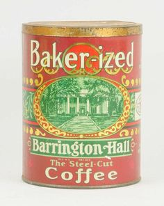 Lot # : 73 - Baker-ized Coffee Tin. Coffee Canister, Coffee Tin, Coffee Cafe, Coffee Is Life, I Love Coffee, Vintage Tins, Vintage Coffee, Coffee Packaging, Vintage Packaging