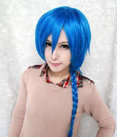 Code Geass Akito the Exiled Akito blue wig long braid cosplay wig  pre-layered - ready to ship by wigglywigs. Explore more products on http://wigglywigs.etsy.com