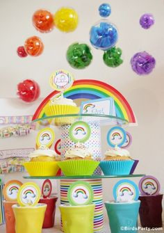 Rainbow Party Centerpiece - Perfect for St Paddy's Day Too