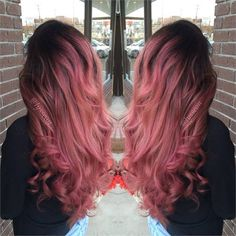 TRANSFORMATION: Deep Rose Gold Rapunzel - Career - Modern Salon