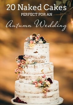 20 Naked Cakes Perfect for Autumn Weddings | SouthBound Bride www.southboundbride.com/naked-cakes-for-autumn-weddings Credit: Crystal Stokes Photography