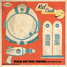 Designed this… Vintage/Retro Kid Cudi Man on the Moon album cover.  Enjoy.