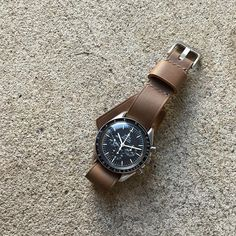 Bas and Lokes tan handmade leather NATO strap. Available at www.basandlokes.com