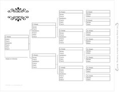 Free Pedigree Charts {Type, Print and Frame in 30 min} ~ Teach Me Genealogy