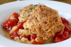 Tomato Cobbler with Gruyere Biscuits - I CANNOT wait to make this!!!!!!