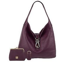 Saddle bags are perfect for Fall Fun! What do you think of this Purple Leather Saddle Bag from Dooney & Bourke? #FallFashion