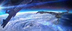 SPACE PORT, Alejandro Olmedo on ArtStation at https://www.artstation.com/artwork/space-port-35efe2e5-60e4-474e-8b65-8be099046f07