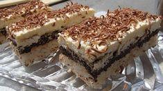 Prajitura cu nuca de cocos, ciocolata si nes   Retete culinare cu Laura Sava
