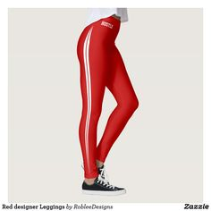 Red designer Leggings