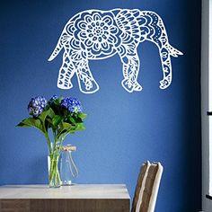 Vinyl Decal Elephant Mandala Wall Meditation Eastern Art Sticker Zen Interior Bohemian Bedding Bedroom /Nursery Living Room Yoga Studio Room Home Décor Murals S16 DecalStoreVienna http://www.amazon.com/dp/B018KNUTEU/ref=cm_sw_r_pi_dp_DOZvwb0HD5PTP