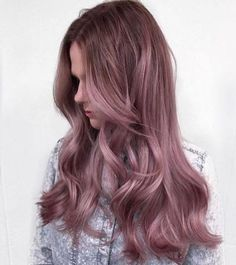 17 Shockingly Pretty Lilac Hair Color Ideas in 2019 - Style My Hairs Lilac Hair, Hair Color Purple, Hair Color And Cut, New Hair Colors, Purple Ombre, Pastel Purple, Dye My Hair, Super Hair, Brunette Hair
