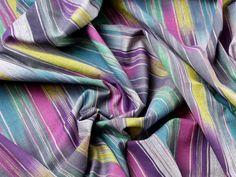 Colour Woven Ikat Stripe Cotton Dress Fabric | Fabric | Dress Fabrics | Minerva Crafts